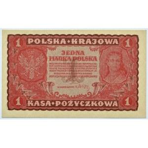 Polska, II RP, 1 marka 1919, I seria FW, UNC