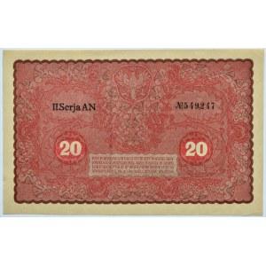 Polska, II RP, 20 marek 1919, II seria AN, UNC
