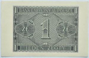Polska, Generalna Gubernia, 1 złoty 1941, seria BC, Kraków, UNC