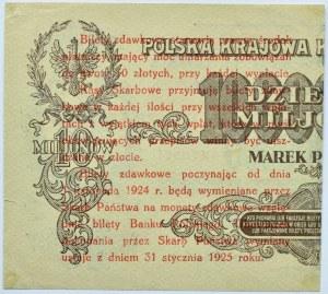Polska, II RP, bilet zdawkowy 5 groszy 1924, prawa połówka, piękne