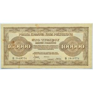 Polska, II RP, 100 000 marek 1923, seria B, piękne