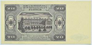 Polska, RP, 20 złotych 1948, seria HG, Warszawa, UNC