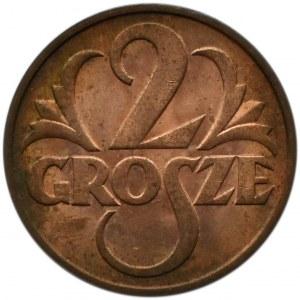 Polska, II RP, 2 grosze 1938, Warszawa, UNC