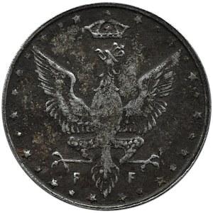 Królestwo Polskie, 10 fenigów 1917, Stuttgart, rzadsza odmiana
