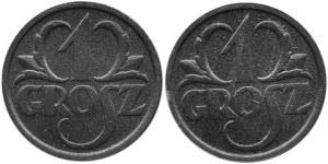 Polska, Generalna Gubernia, 1 grosz 1939 - 2 sztuki, mennicze!