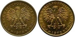 Polska, PRL, 2 złote 1978, 2 odmiany, IDEALNE, Warszawa, UNC
