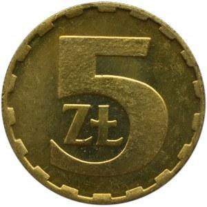 Polska, PRL, 5 złotych 1981, Warszawa, IDEALNE, UNC