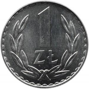 Polska, PRL, 1 złoty 1981, Warszawa, UNC, rzadkie