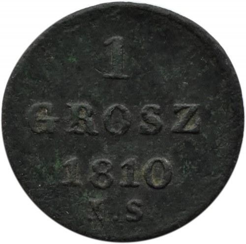 Księstwo Warszawskie, grosz 1810 I. S., Warszawa