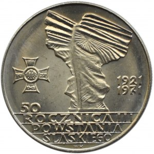 Polska, PRL, Powstania Śląskie, 10 złotych 1971, Warszawa, UNC