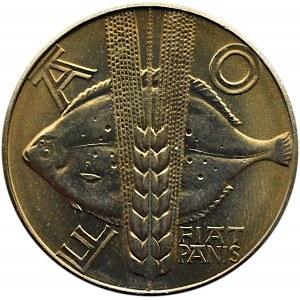 Polska, PRL, 10 złotych 1971, FAO - flądra, Warszawa