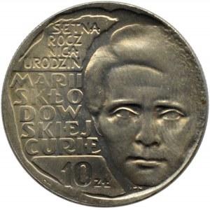 Polska, PRL, 10 złotych 1967,M. C.-Skłodowska, Warszawa
