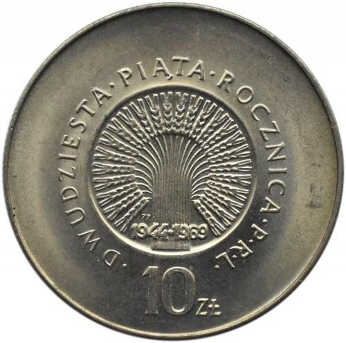 Polska, PRL, 25-lecie PRL, 10 złotych 1969, Warszawa, UNC