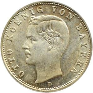 Niemcy, Bawaria, Otto 2 marki 1904 D, Monachium, UNC