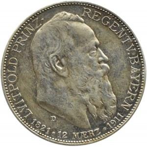 Niemcy, Bawaria, Luitpold, 2 marki 1911 D, Monachium