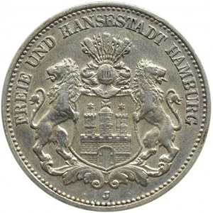 Niemcy, Hamburg, 2 marki 1906 J, Hamburg
