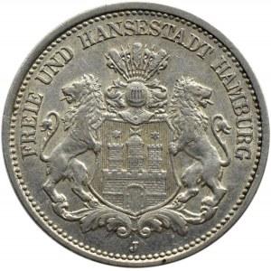 Niemcy, Hamburg, 2 marki 1907 J, Hamburg