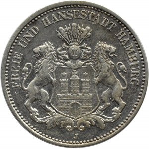 Niemcy, Hamburg, 2 marki 1911 J, Hamburg