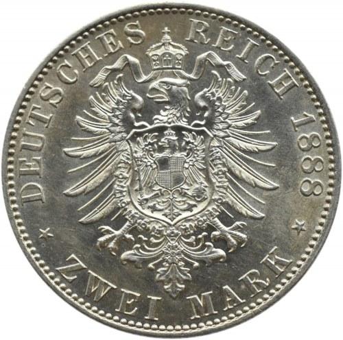 Niemcy, Prusy, Fryderyk III, 2 marki 1888, Berlin