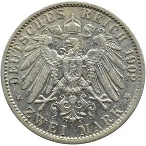 Niemcy, Prusy, Wilhelm II, 2 marki 1902 A, Berlin
