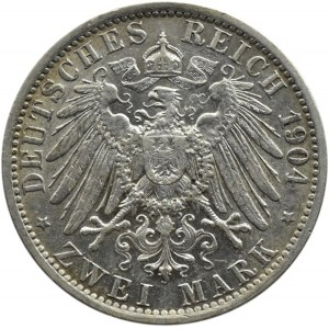 Niemcy, Prusy, Wilhelm II, 2 marki 1904 A, Berlin