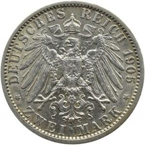 Niemcy, Prusy, Wilhelm II, 2 marki 1905 A, Berlin