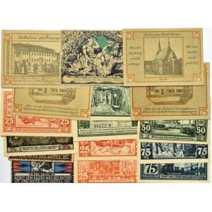 Niemcy, lot 17 notgeldów, różne