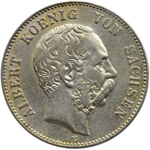 Niemcy, Saksonia, Albert, 2 marki 1899 E, Muldenhütten