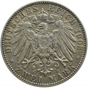 Niemcy, Saksonia, Georg, 2 marki 1903 E, Muldenhütten