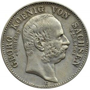 Niemcy, Saksonia, Georg, 2 marki 1904 E, Muldenhütten - edycja pośmiertna