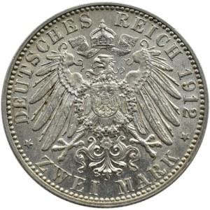 Niemcy, Saksonia, Fryderyk August, 2 marki 1912 E, Muldenhütten