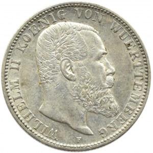 Niemcy, Wirtembergia, Wilhelm II, 2 marki 1904 F, Stuttgart