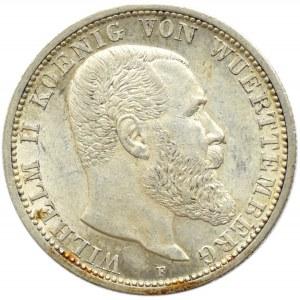 Niemcy, Wirtembergia, Wilhelm II, 2 marki 1912 F, Stuttgart