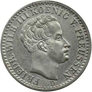 Niemcy, Prusy, Fryderyk Wilhelm III, 1/6 talara 1840 A, Berlin