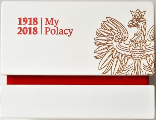 Polska, III RP, 1 złoty 2018, Warszawa, 2 uncje złota, UNC