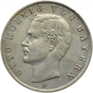 Niemcy, Bawaria, Otto, 3 marki 1909 D, Monachium