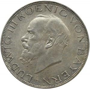 Niemcy, Bawaria, 3 marki 1914 D, Monachium