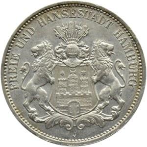 Niemcy, Hamburg, 3 marki 1912 J, Hamburg