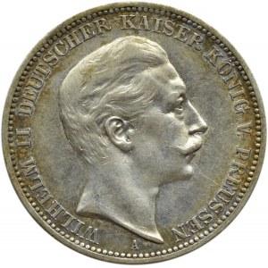 Niemcy, Prusy, Wilhelm II, 3 marki 1908 A, Berlin