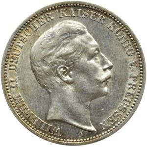 Niemcy, Prusy, Wilhelm II, 3 marki 1909 A, Berlin