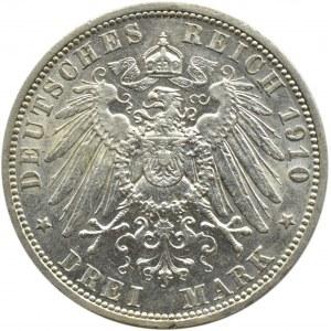 Niemcy, Prusy, Wilhelm II, 3 marki 1910 A, Berlin