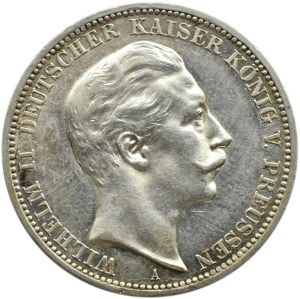 Niemcy, Prusy, Wilhelm II, 3 marki 1911 A, Berlin