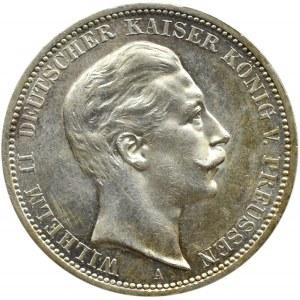 Niemcy, Prusy, Wilhelm II, 3 marki 1912 A, Berlin, UNC
