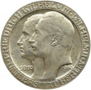 Niemcy, Prusy, Wilhelm II, 3 marki 1910 A, Berlin, 100-lecie Uniwersytetu w Berlinie