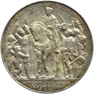 Niemcy, Prusy, Wilhelm II, 3 marki 1913 A, Berlin, Bitwa pod Lipskiem