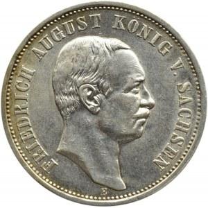 Niemcy, Saksonia, Fryderyk August, 3 marki 1911 E, Muldenhütten