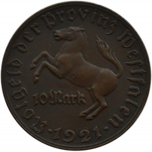Niemcy, Westfalia, 10 marek 1921, brąz