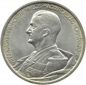 Węgry, M. Horthy, 5 pengo 1939, UNC
