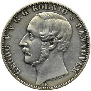 Niemcy, Hannover, Ernst August, 1 talar 1861 B, Hannover