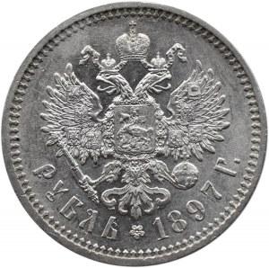 Rosja, Mikołaj II, 1 rubel 1897 AG, Petersburg, piękny
